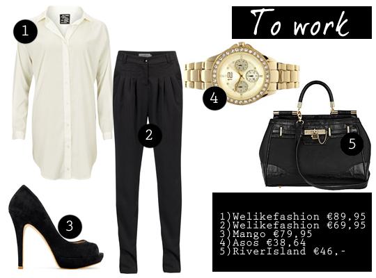 Hoe combineer je een witte blouse p s door sanne - Hoe kleed je een witte muur ...