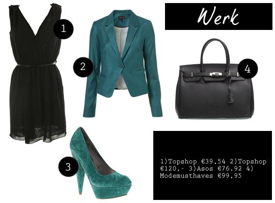 zwart jurkje combineren met jasje