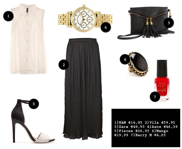 92df1968ad7e0d Een mooie zwarte maxi rok is een hartstikke goed basisstuk in je  kledingkast en kun je o.a. heel goed gebruiken in een wat  nettere  outfit  zoals hierboven.